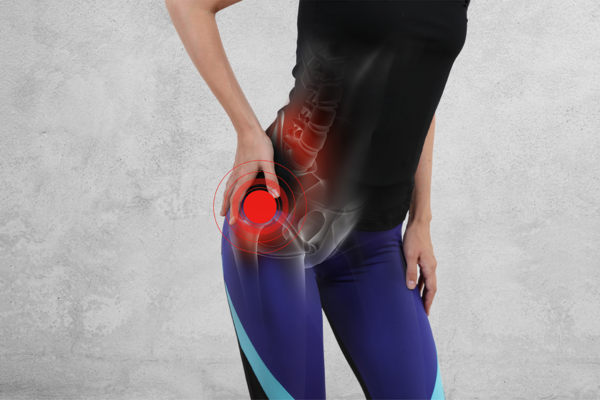 Woman with hip pain