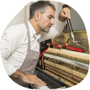 John, 46-year-old Piano-Tuner